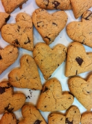 Heart vegan cookies (Valentine's day)